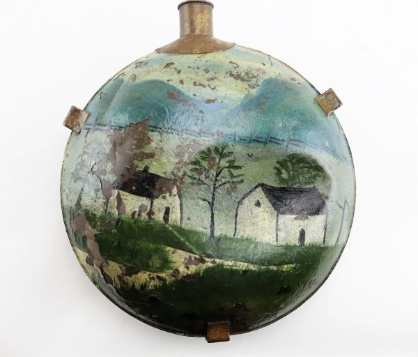 Painted Folkart Canteen / Sold