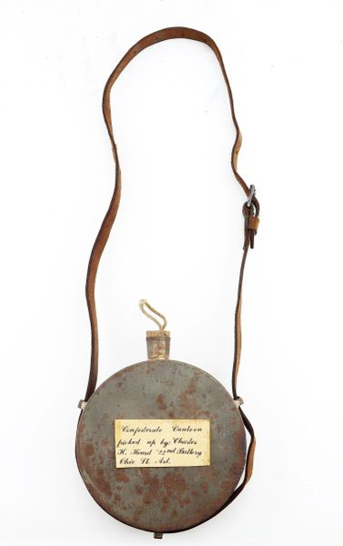 Captured Confederate Tin Drum Canteen