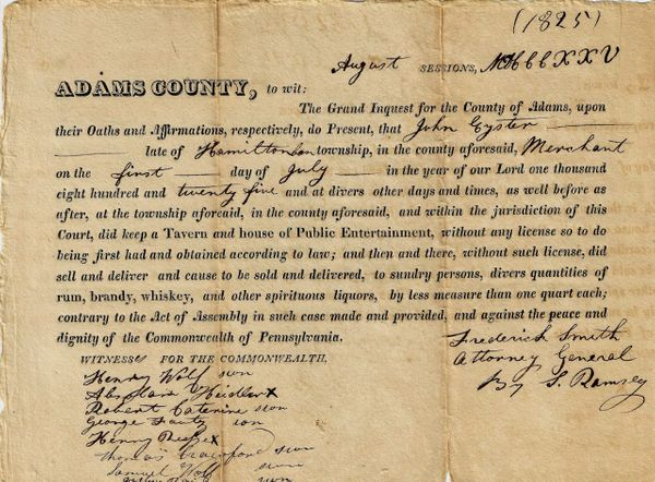 Gettysburg - Rare and Interesting Document
