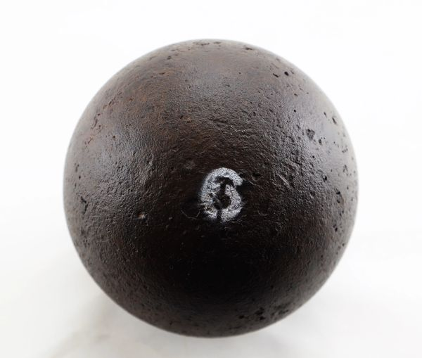 12 Pound Solid Shot Cannonball / SOLD