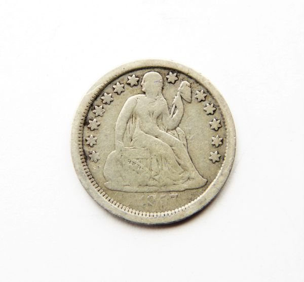 1857 Silver Dime / Sold