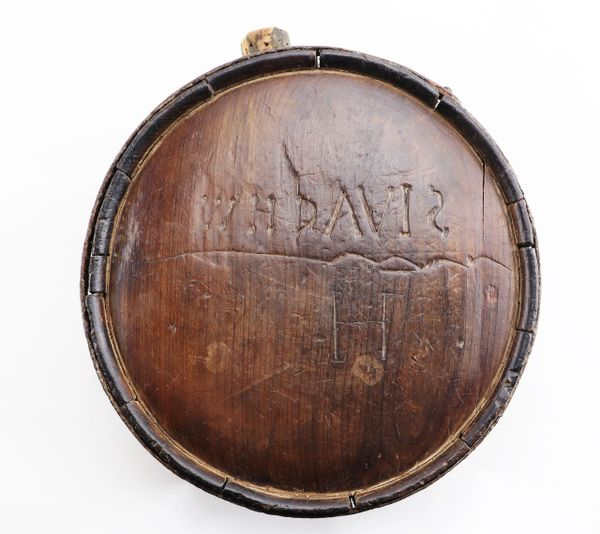 Confederate Wood Drum Canteen