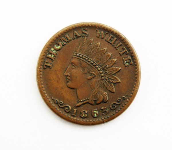 1863 Indian Head Civil War Token / Sold