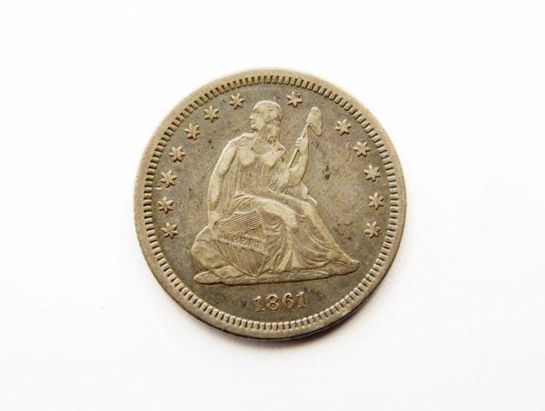 1861 Silver Quarter