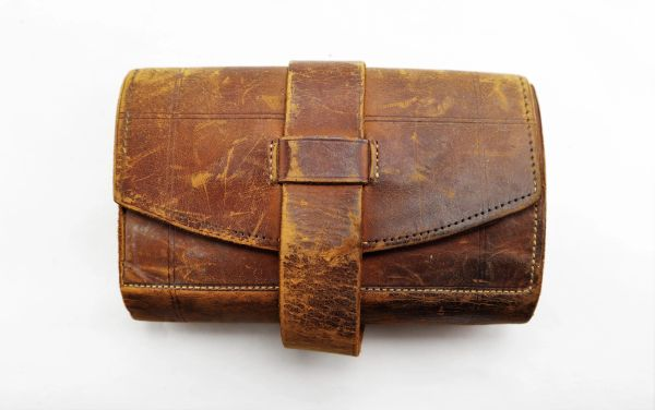 """""""Banfield, Forristall & Co."""" Civil War Period Leather Wallet / Sold"""