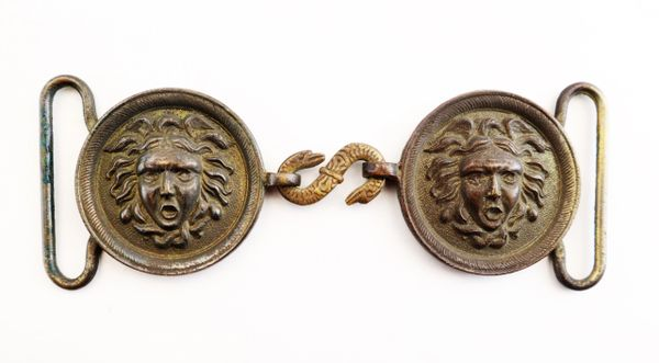 French Hussar's Medusa Head Belt Buckle