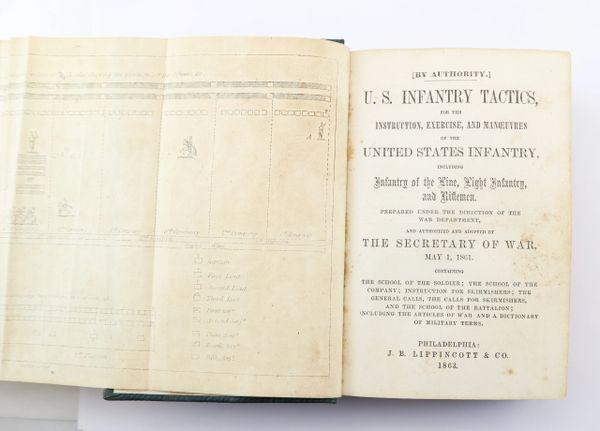 "Inscribed Tactics Manual of Captain John J. F. Gilliland ""Camp Gettysburg"" / Sold"