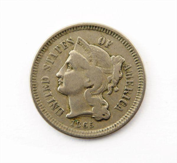 1865 Three Cent Piece