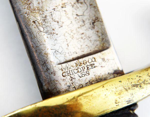 Civil War Ames Model 1840 Light Artillery Saber, Scarce Date of 1856 / Sold