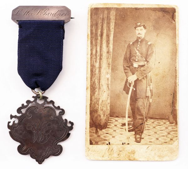 Civil War Identified Officer's Service Medal and Photo