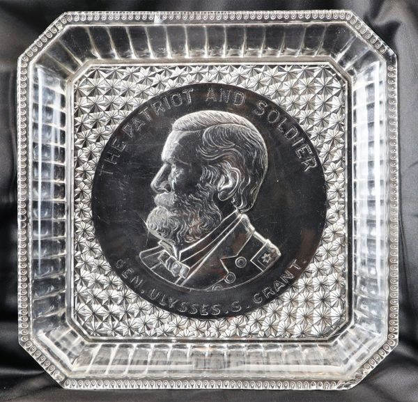 U.S. Grant Crystal Dish