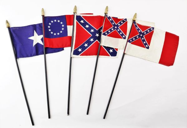 Confederate Veteran's Parade Flags