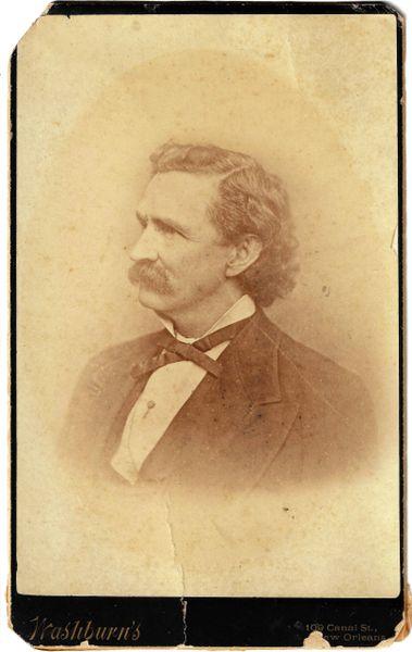 Cabinet Card of Mark Twain