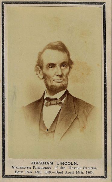 Lincoln Mourning Card / Sold