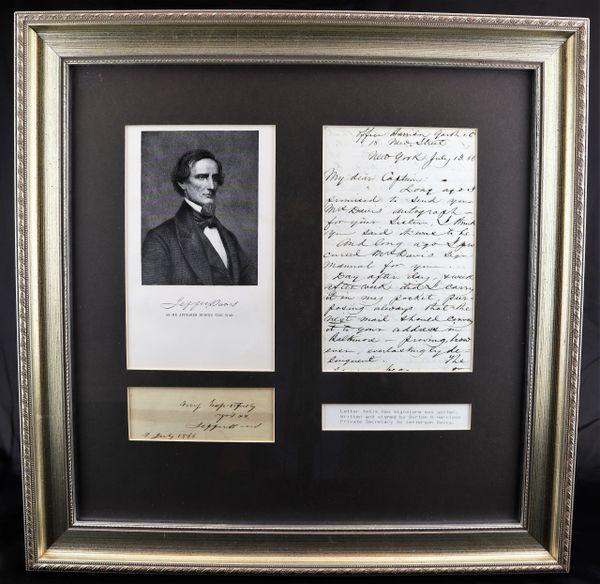 Autograph of Jefferson Davis while Confined in Prison