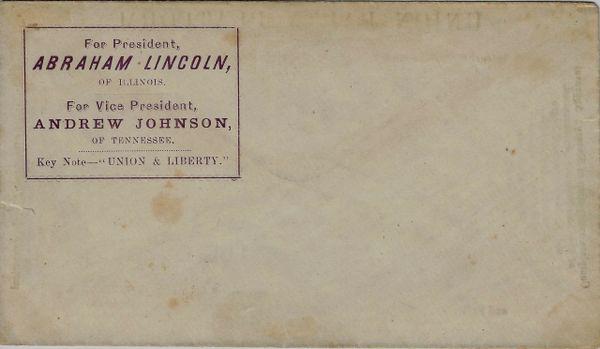 Abraham Lincoln Campaign Cover / Sold