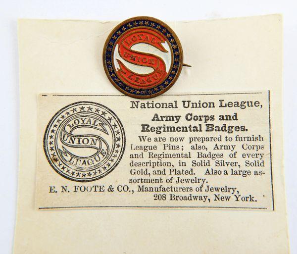 National Union League Badge