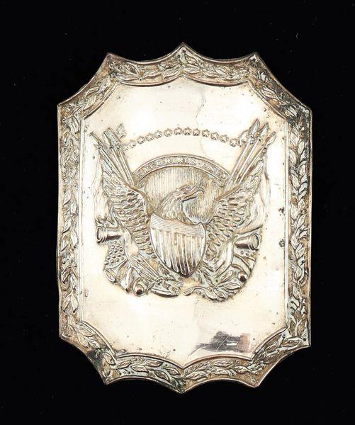 Volunteer Militia Cap Plate