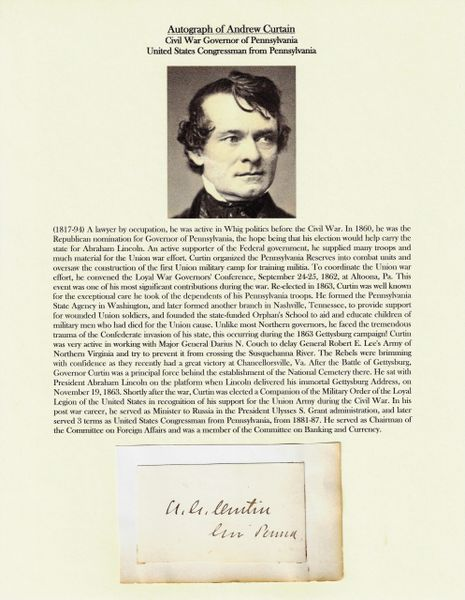 Autograph of Andrew Curtain