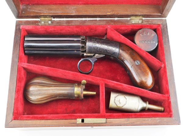 J.R. Cooper Patent Six-Shot Percussion Pepperbox Revolver