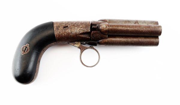 Four Barrel Pepperbox Revolver