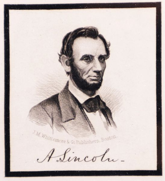 Abraham Lincoln Mourning Engraving