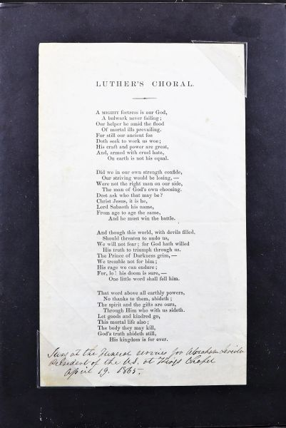 Relic from Lincoln's Funeral
