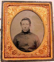 Young Union Artilleryman Sixth Plate Tintype