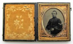 Union Corporal with Snake Belt Sixth Plate Tintype