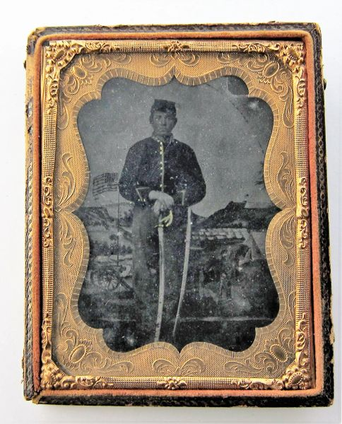 Cavalry Trooper Tintype Quarter Plate / On-hold