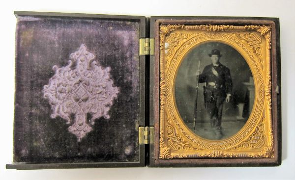 """2nd Infantry Regiment Company """"I"""" Sixth Plate Tintype"""
