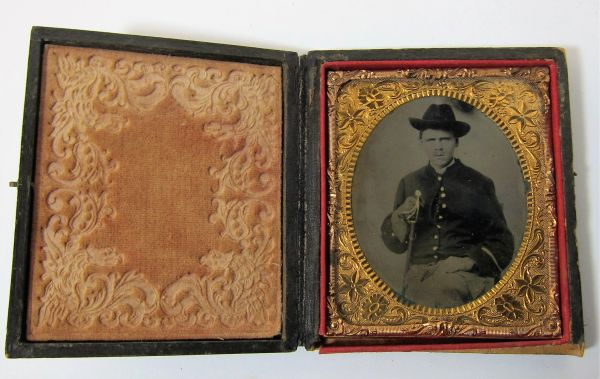Cavalryman with Saber Sixth Plate Tintype