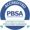 Professional Background Screening Association Accredited badge