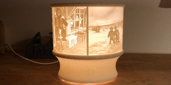 Lithophane Lamp 3D printed