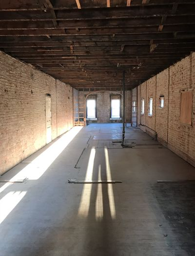 Commercial interior strip-out  • Walls,Ceilings, Flooring removed , Plumbing , Electrical removed.