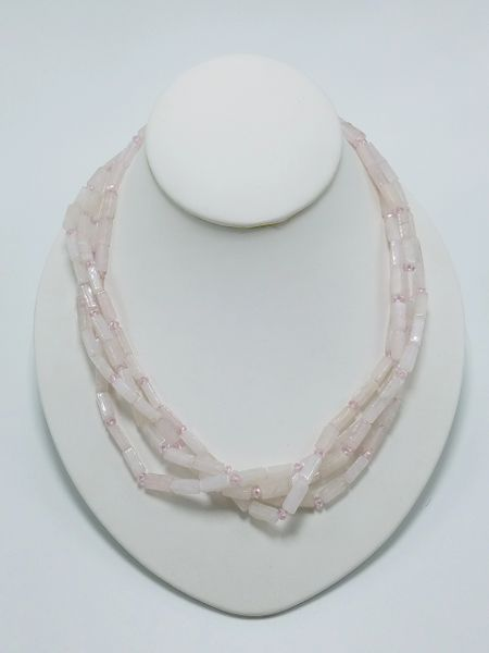 Rose Quartz Multi-strand necklace
