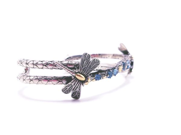 Dragon Fly with Blue Topaz