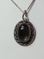 Smoky Quartz Oval Pendant