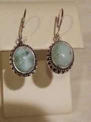 Silver Larimar Earrings