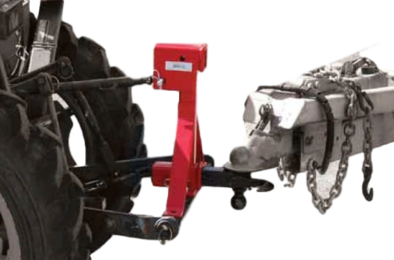 3 point hitch receiver draw bar - dual receiver mounts