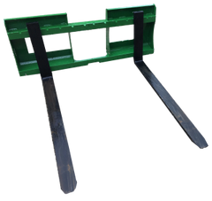 """John Deere style quick attach pallet forks, 1200 lb capacity, 42"""" forks with SHIPPING INCLUDED to freight terminal"""