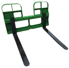 """John Deere style quick attach pallet forks, 4200 lb capacity, 48"""" forks with SHIPPING INCLUDED to freight terminal"""