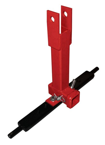 3 point hitch receiver draw bar - single receiver mount