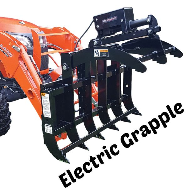 """49"""" Work Saver ELECTRIC root rake grapple with SHIPPING INCLUDED to freight terminal"""