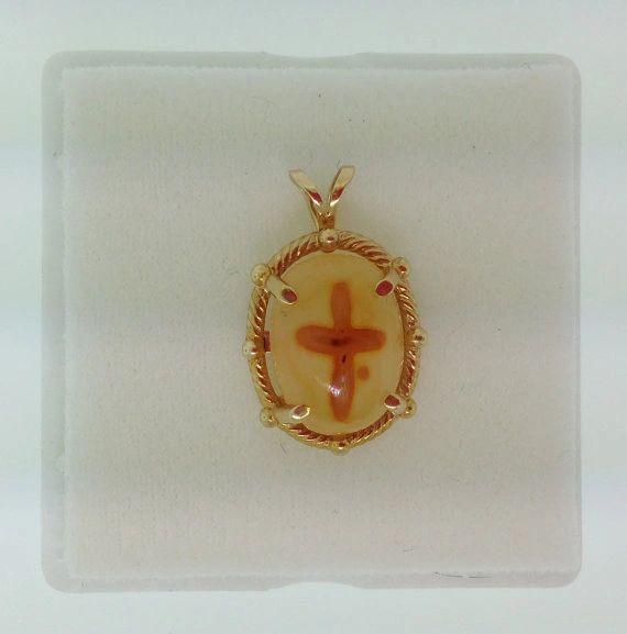 Cross Agate Pendate