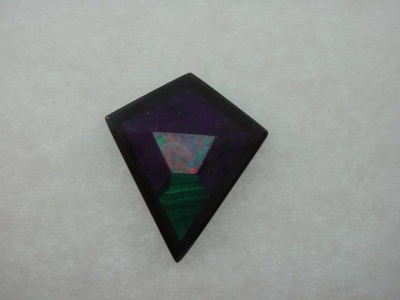 Intarisa Inlay Sugilate, Opal and Malachite