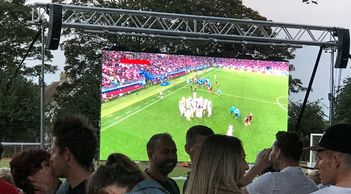 AV4IP LED video wall for screening 'live' sports events