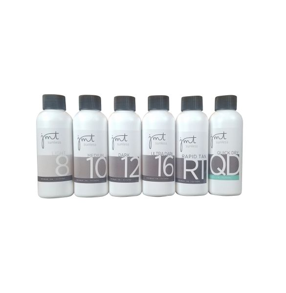 Signature Line Sample Pack - Light 8, Medium 10, Dark 12, Ultra Dark 16, Rapid Tan, Quick Dry (4 oz)
