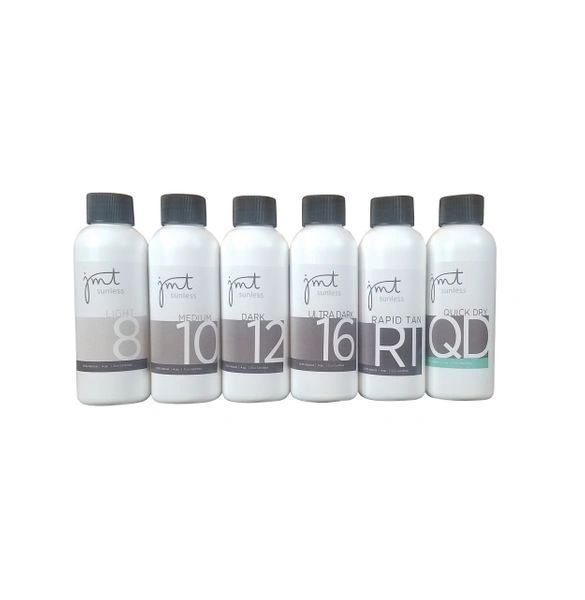 Violet Line Sample Pack - Light 8, Medium 10, Dark 12, Ultra Dark 16, Rapid Tan, Quick Dry (4 oz)