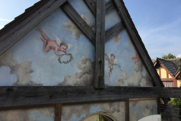 Hand painted mural at the Ohio Renaissance Festival.